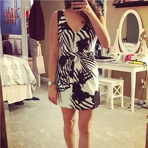 Armani Exchange Printed Silk Dress